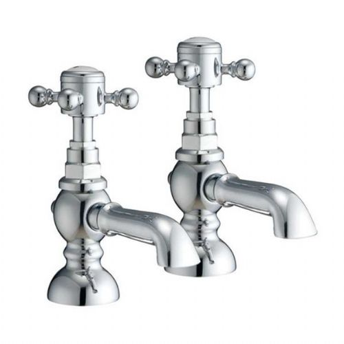 Abacus Kensington Basin Pillar Tap - Pair - Chrome